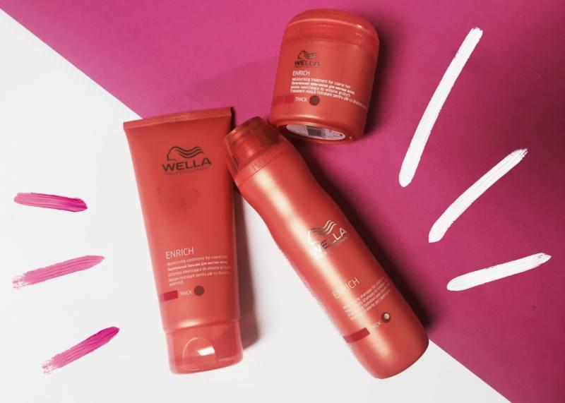 Wella Professional Enrich для жестких волос уход за волосами уход за жесткими волосами шампунь для волос кондиционер для волос маска для жестких волос