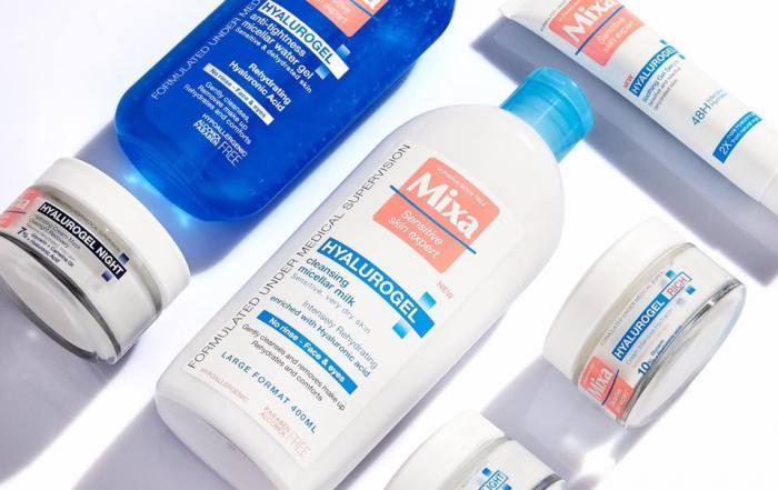 mixa hyalurogel увлажнение кожи летом гиалуроновая кислота для чувствительной и обезвоженной кожи