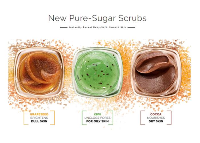 сахарный скраб для лица и губ от LOREAL очищающий для жирной кожи sugar scrub loreal