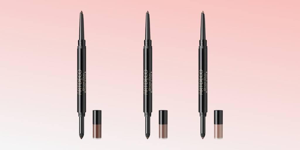 топ 6 продуктов за март красота макияж косметика daryazu pink background artdeco brow duo daryazu-min
